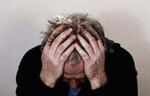 Man Experiencing Severe Headache